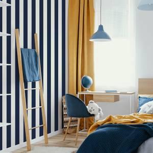 Superfresco Easy Navy Vintage Striped Wallpaper