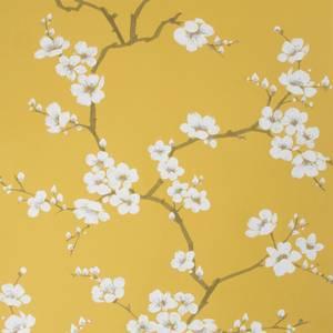 Fresco Ochre Apple Blossom Floral Wallpaper