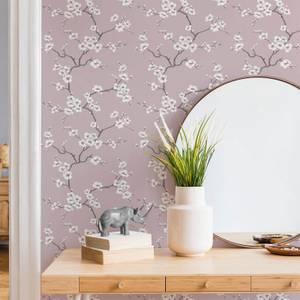 Fresco Pink Apple Blossom Floral Wallpaper