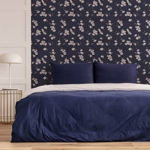 Fresco Navy Apple Blossom Floral Wallpaper