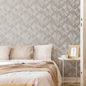Superfresco Vittorio Grey/Rose Gold Geometric Wallpaper