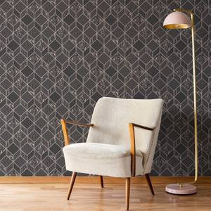 Superfresco Vittorio Charcoal/Rose Gold Geometric Wallpaper