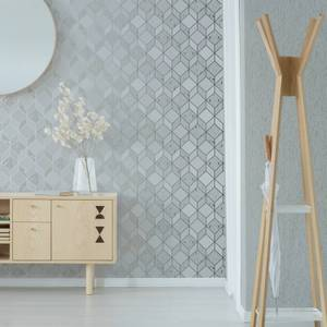 Superfresco Vittorio Grey/Silver Textured Plain Wallpaper