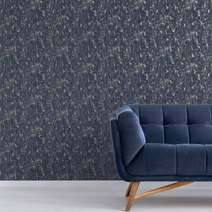 Superfresco Milan Navy/Pale Gold Textured Plain Wallpaper
