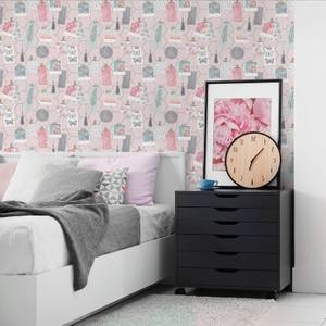 Fresco Pink Clip Frames Wallpaper