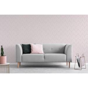 Superfresco Easy Pink Losanges Filaires Geometric Metallic Wallpaper
