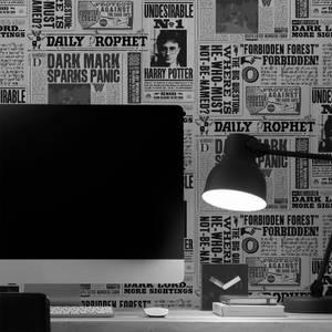 Warner Brothers Harry Potter Daily Prophet Mono Black/White Wallpaper.