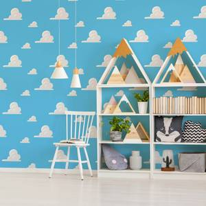 Disney Toy Story Andys Room Blue/White Cloud Wallpaper