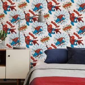 Marvel Spiderman Pow Multicolour Wallpaper