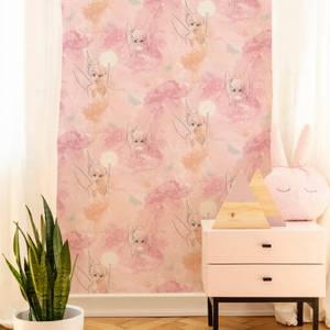 Disney Tinkerbell Watercolour Pastel Pink Wallpaper