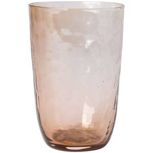 Broste Copenhagen Hammered Glass Tall Tumbler - Natural