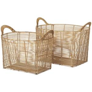Broste Copenhagen Safi Rattan Baskets - Set of 2