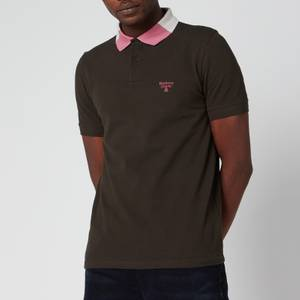 Barbour Beacon Men's Rowan Tipped Polo Shirt - Forest