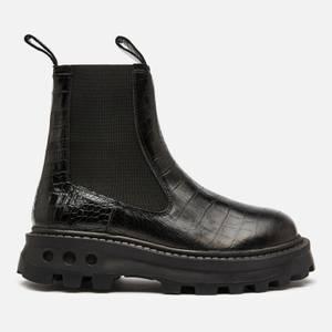 Simon Miller Women's Scrambler Chelsea Boots - Black Croc