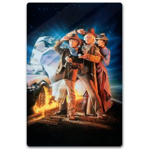 Zavvi Exclusive Limited Edition Back To The Future Part 3 Metal Poster - 40 X 60cm