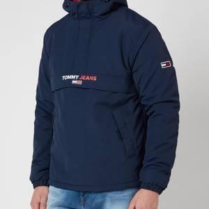 Tommy Jeans Men's Solid Popover Jacket - Twilight Navy