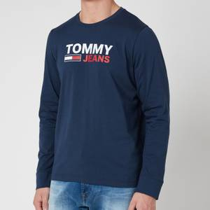 Tommy Jeans Men's Longsleeve Corp Logo T-Shirt - Twilight Navy
