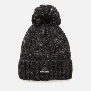 Superdry Women's Gracie Cable Beanie - Black Tweed