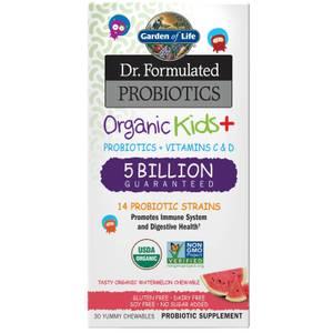 Dr. Geformuleerde Probiotica Biologische Kinderen Watermeloen PLANK 30 stuks Kauwtabletten