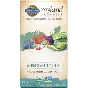 Comprimés multivitaminés pour hommes de 40 ans et plus mykind Organics - 120 comprimés
