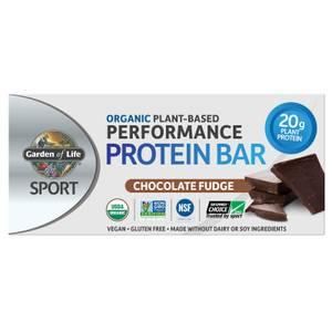 Sport Organic Plant - Based Protein Bar - Chocolate Fudge - 12 Bars
