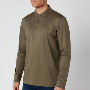 BOSS Men's Pirol Long Sleeve Polo Shirt - Dark Green