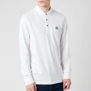 BOSS Men's Passerby Long Sleeve Polo Shirt - White