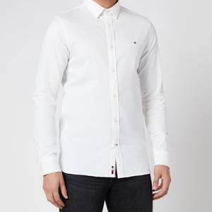 Tommy Hilfiger Men's Slim 4 Way Stretch Dobby Shirt - White