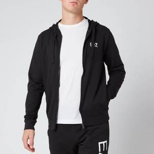 Emporio Armani EA7 Men's Zipped Hoodie - Black