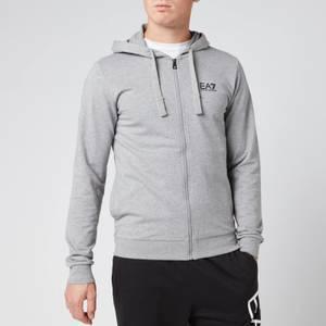 Emporio Armani EA7 Men's Zipped Hoodie - Grey