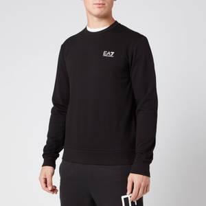 Emporio Armani EA7 Men's Chest Logo Sweatshirt - Black