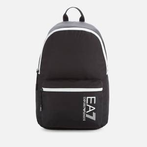 EA7 Men's Contrast Logo Backpack - Black/White