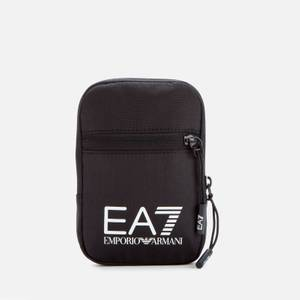 EA7 Men's Contrast Logo Crossbody Bag - Black/White