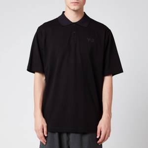 Y-3 Men's Classic Pique Polo Shirt - Black