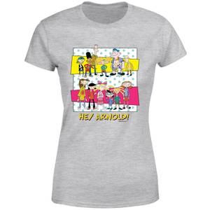 Hey Arnold Guys & Girls Women's T-Shirt - Grey