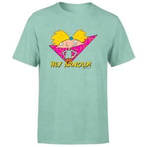 Hey Arnold Move It Football Head Unisex T-Shirt - Mint Acid Wash