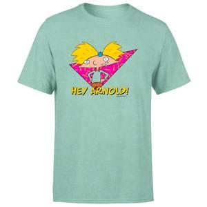 T-shirt Hé Arnold Move It Football Head - Mint Acid Wash - Unisexe