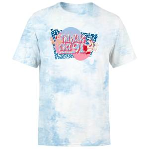 Ren & Stimpy Twerkin' Since 91 Unisex T-Shirt - Light Blue Tie Dye