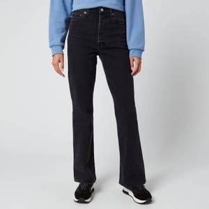 Levi's Women's Ribcage Boot Jeans - Black Bayou ML