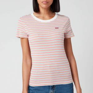 Levi's Women's Short Sleeve Rib Baby T-Shirt - Pearl Poppy Red