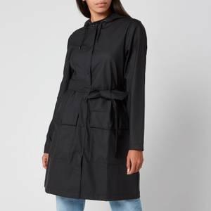 Rains Belt Jacket - Black