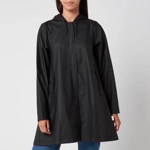 Rains A-line Jacket - Black
