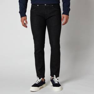 Edwin Men's Ed-85 Slim Tapered CS Ayano Drop Crotch Rinsed Jeans - Black