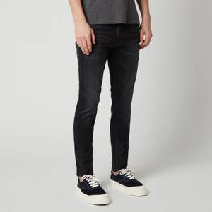 Edwin Men's Ed-85 Slim Tapered CS Ayano Drop Crotch Kahori Wash Jeans - Black
