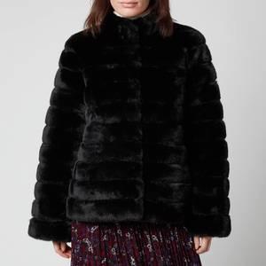 MICHAEL Michael Kors Women's Faux Fur Short Coat - Black