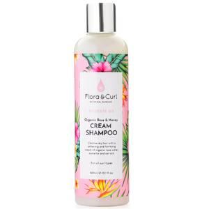 Flora & Curl Organic Rose & Honey Cream Shampoo 300ml