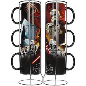 Star Wars Stackable Ceramic Mugs 3pk Black First Order E7