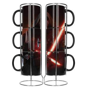 Star Wars Stackable Ceramic Mugs 3pk Kylo Lightsaber E7