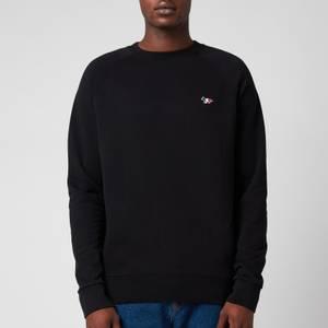 Maison Kitsuné Men's Tricolor Fox Patch Clean Sweatshirt - Black