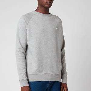 Maison Kitsuné Men's Tricolor Fox Patch Clean Sweatshirt - Grey Melange